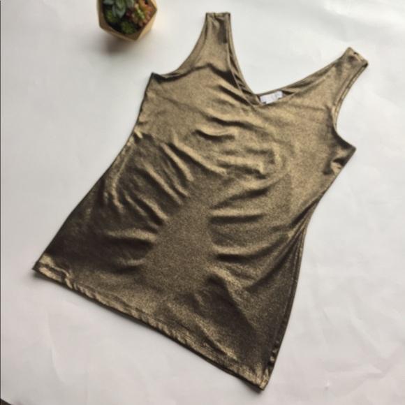 59145992987b4 Cache Tops - Cache Tank Top Blouse Shirt Gold Black Cami Sm